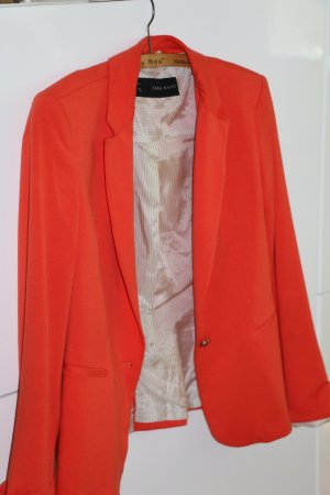 Sweatshirt-Blazer, Blazer Zara, M, orange