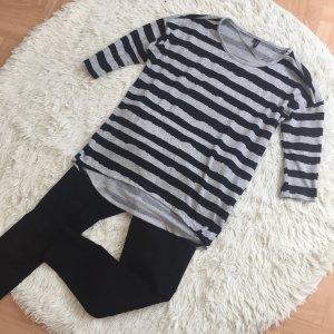 Carmen shirt lichtgrijs-zwart
