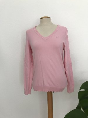 Tommy Hilfiger V-Neck Shirt light pink cotton