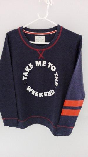 Sweatshirt dunkelblau-meliert von Next