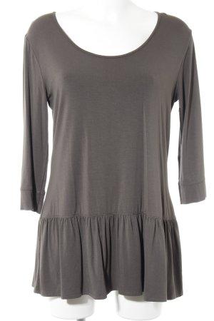 Sweat Shirt dark green simple style