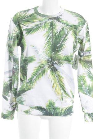 Sweatshirt florales Muster Casual-Look