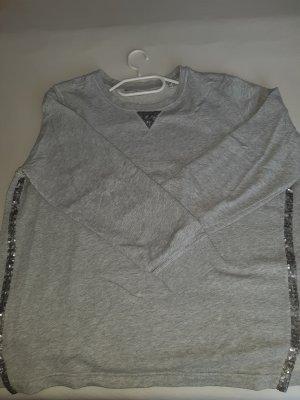 Sweatshirt Gr. 44/46 mit Pailletten