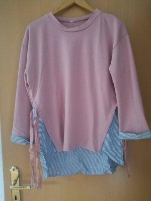 Empiècement de blouses vieux rose-violet