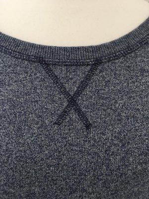 Sweatshirt, Gr. S, H&M, dunkelblau melliert, lang geschnitten