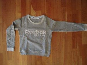 Reebok Sweatshirt lichtgrijs Gemengd weefsel