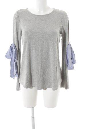 Sweatshirt grau meliert Casual-Look