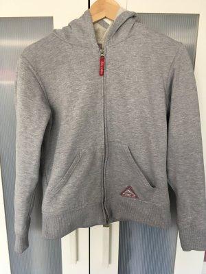 Sweatshirt grau mit Kuschelfleece