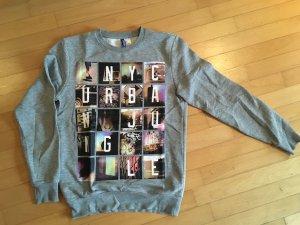 Sweatshirt grau von h&m Divided S