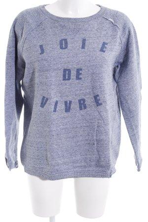 Sweatshirt graublau meliert Casual-Look