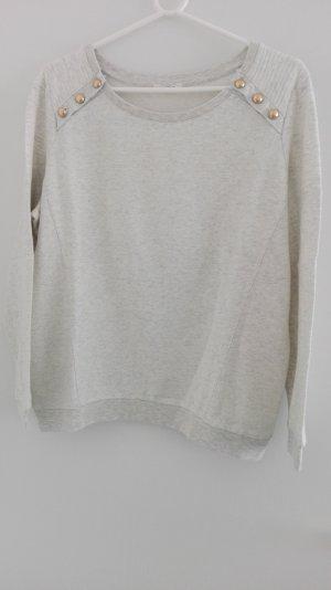 Promod Suéter gris claro tejido mezclado