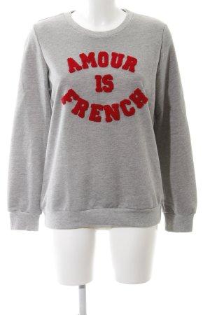 Sweatshirt hellgrau-ziegelrot Casual-Look