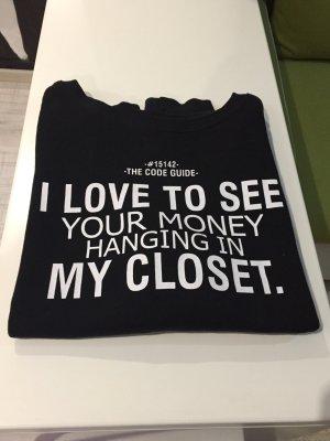 Sweatshirt/Hoodie oversize schwarz-weiß Schrift Zara Gr.36/S