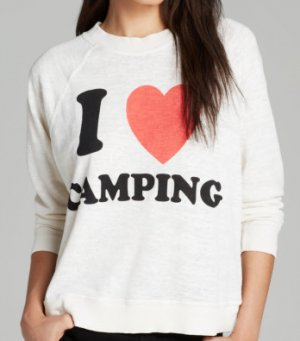 Sweatshirt I Love Camping lässig