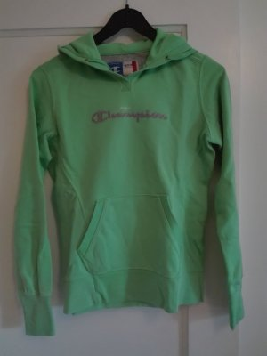 Champion Hooded Sweatshirt green cotton
