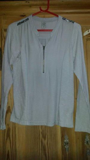 Sweatshirt in grau-lila