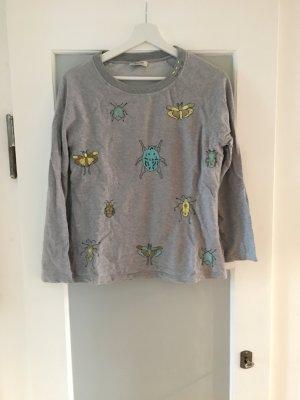 Sweatshirt in grau mit Pailletten von Malvin