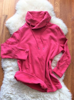 C&A Sweat Shirt raspberry-red-silver-colored cotton
