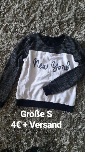 Sweatshirt in schwarz-grau weiß