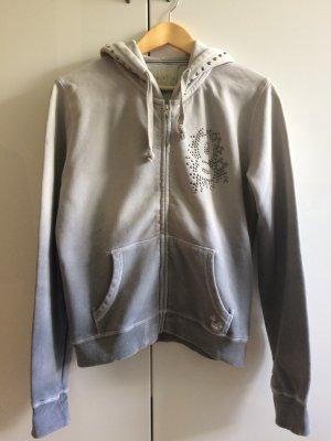 Sweatshirt Jacke * grau * mit Nieten * Größe L * von gwynedds