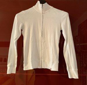 Sweatshirt-Jacke/ Strickjacke weiß Gr. L von edc