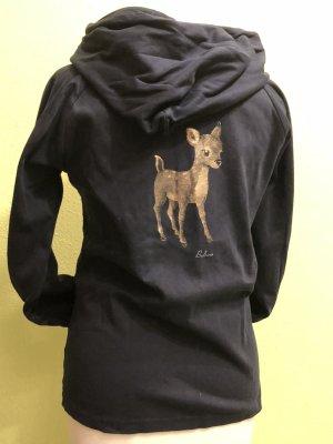 Balbina Sudadera con capucha negro Algodón