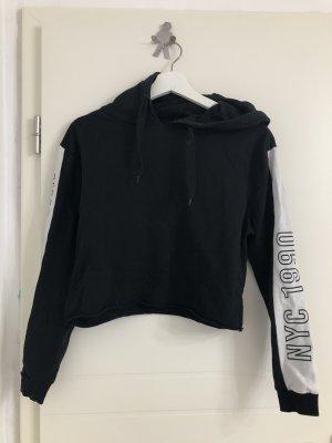 Jersey con capucha negro-blanco