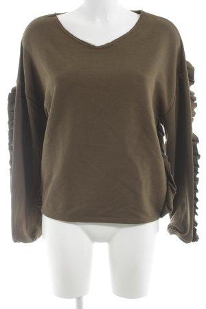 Sweat Shirt khaki street-fashion look