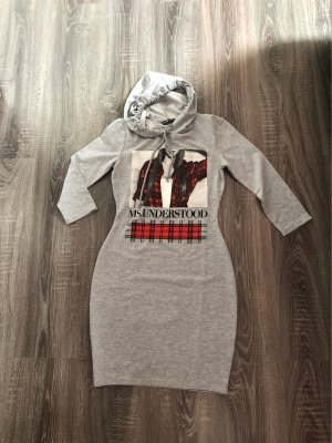FB Sister Hooded Dress light grey