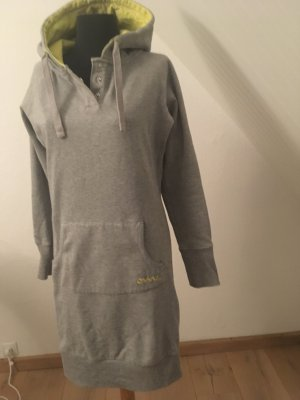 Vestido de tela de sudadera gris claro-amarillo pálido