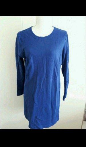 H&M Vestido de tela de sudadera azul acero Algodón