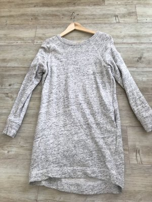 H&M L.O.G.G. Vestido de tela de sudadera gris claro