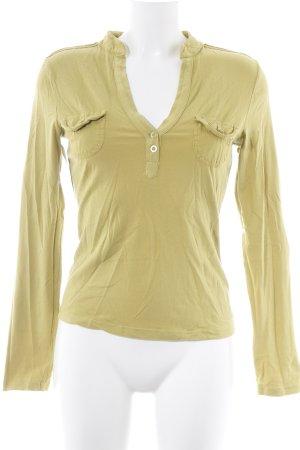 Sweatshirt limettengelb Casual-Look