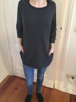Sweatshirt Long Dries van Noten grau clean minimal