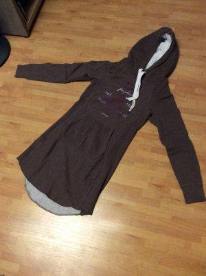 Sweatshirt Minikleid von H&M Gr XS Bordeaux braun