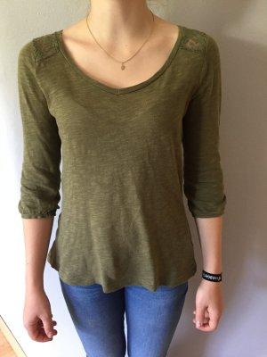 Sweatshirt mit 3/4 Ärmeln und Spitzendetail
