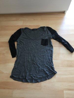 Sweatshirt mit Ärmel in Lederoptik