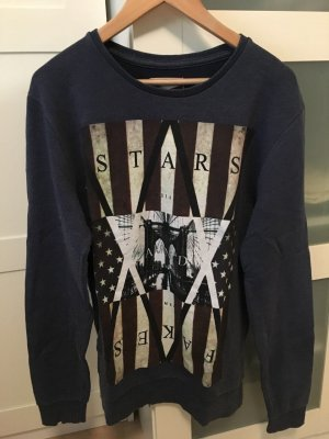 Sweatshirt mit Amerikaprint