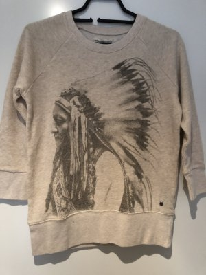 Ralph Lauren Suéter crema-gris