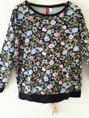 Sweatshirt mit Blumenprint Gr. L