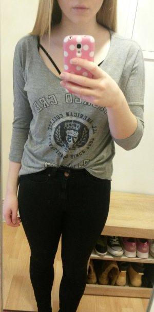 Sweatshirt mit College-Print