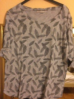 Sweatshirt mit Feder-Aufdruck
