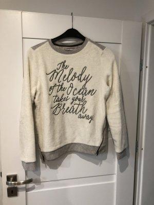 Soccx Sweatshirt gris clair-crème