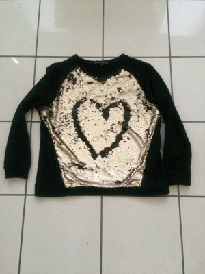 Sweatshirt mit Goldenen Pailletten, Sassyclassy, neu, Gr 40, Individualisierbar