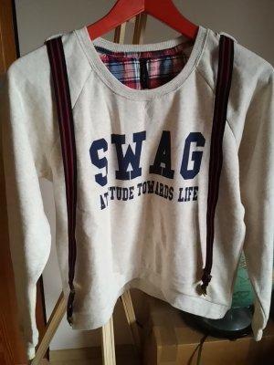 Sweatshirt mit integrierten Hosenträgern