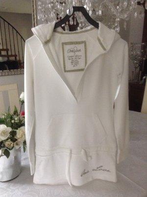 Blusa con capucha blanco