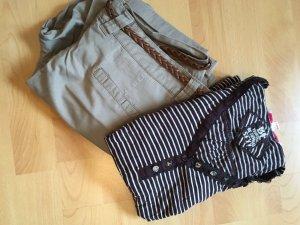 Tally Weijl Stripe Shirt white-dark brown
