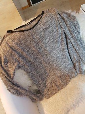 Sweatshirt mit leder kragen