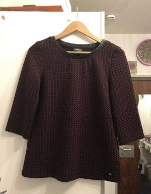 Taifun Sweatshirt bordeaux-zwart