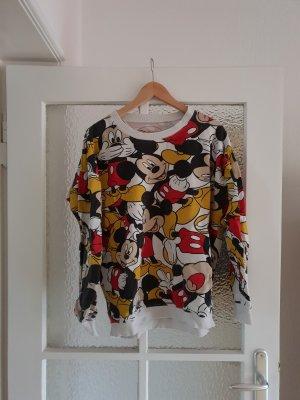 Sweatshirt mit Mickey Maus-Print Vintage Optik